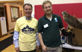 Will Schaust with Mayor Hogsett
