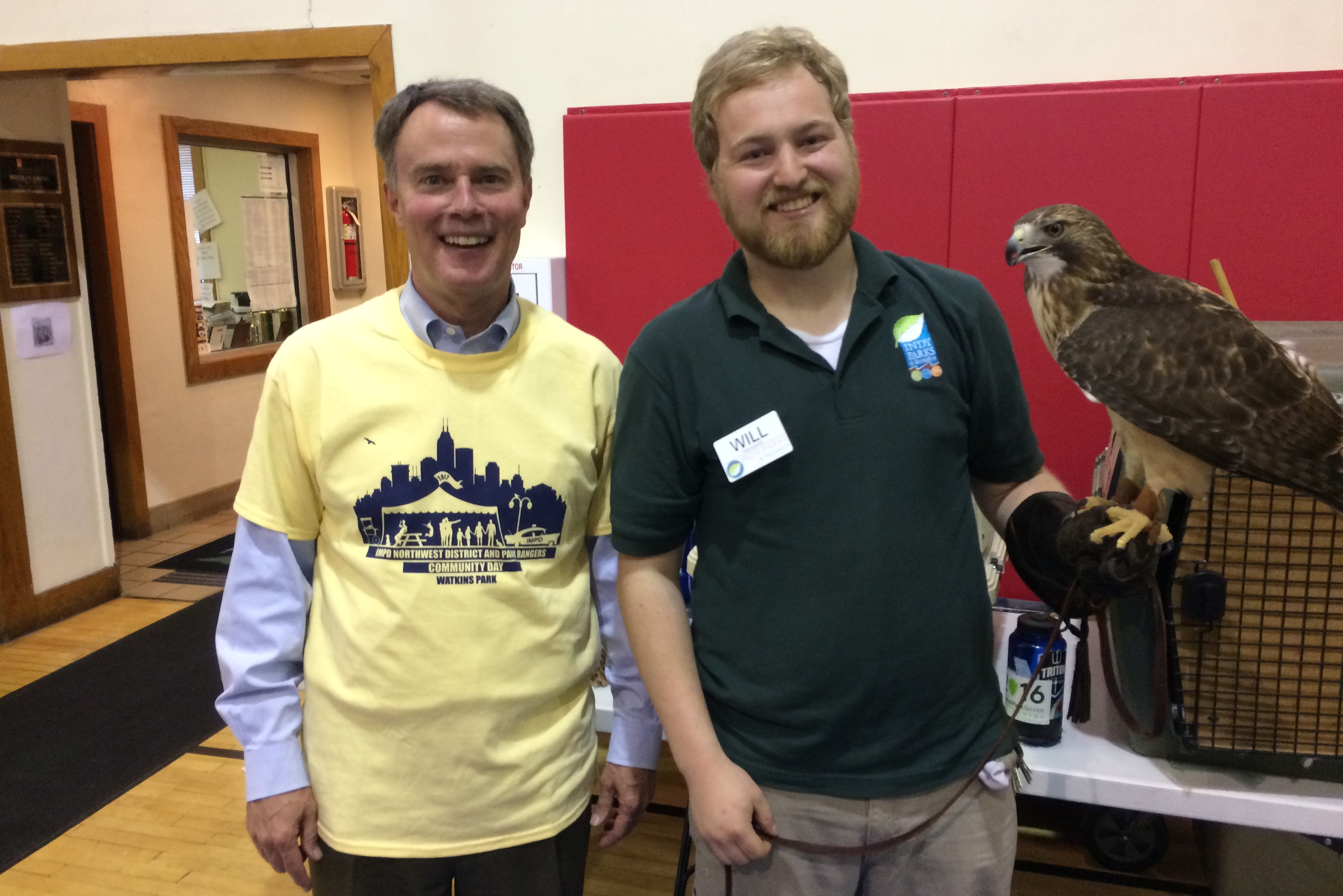 Will Schaust with Mayor Hogsett