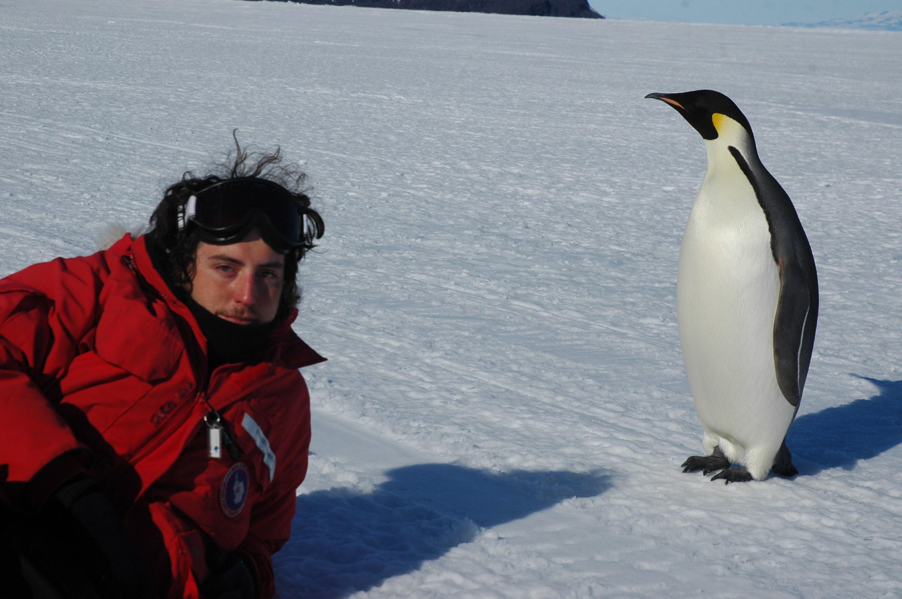 Dan Boritt with Penguin