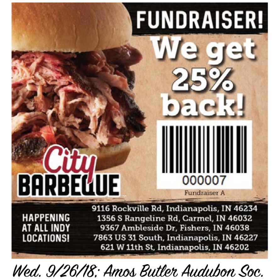 City Barbeque Fundraising Flyer