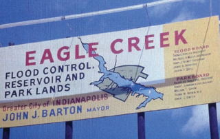 Eagle Creek Sign from when it was being created